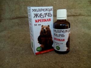 Спиртовая настойка медвежьей желчи 50 мл.(Крепкая)