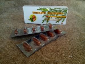 Пихтиоловые цилиндры (свечи) с экстрактом листьев грецкого ореха
