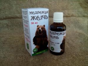 Спиртовая настойка медвежьей желчи 50 мл.